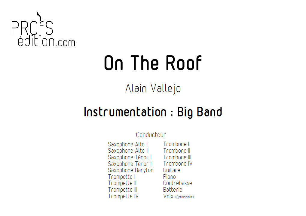 On The Roof - Big Band - VALLEJO A. - page de garde