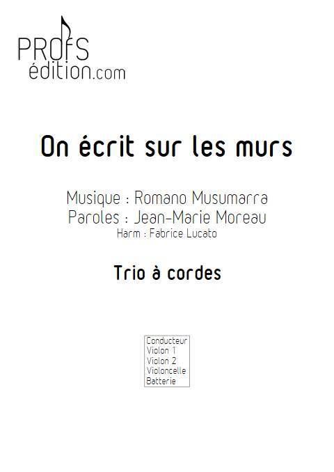 On écrit sur les murs - Trio à cordes - MUSUMARRA R. - page de garde