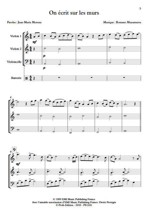 On écrit sur les murs - Trio à cordes - MUSUMARRA R. - app.scorescoreTitle