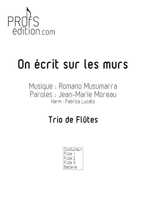 On écrit sur les murs - Trio de Flûtes - MUSUMARRA R. - page de garde