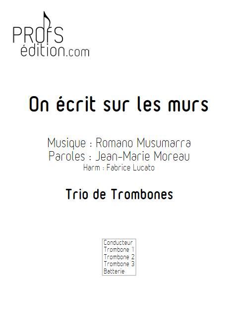 On écrit sur les murs - Trio de Trombone - MUSUMARRA R. - page de garde