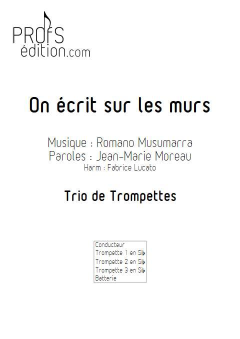 On écrit sur les murs - Trio de Trompette - MUSUMARRA R. - page de garde