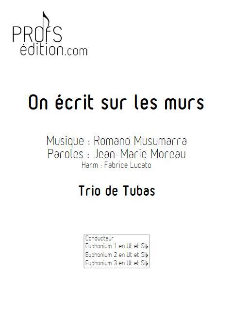 On écrit sur les murs - Trio de Tubas - MUSUMARRA R. - page de garde