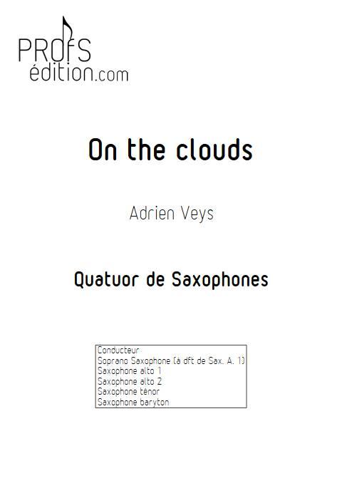 On the clouds - Quatuor de Saxophones - VEYS A. - page de garde