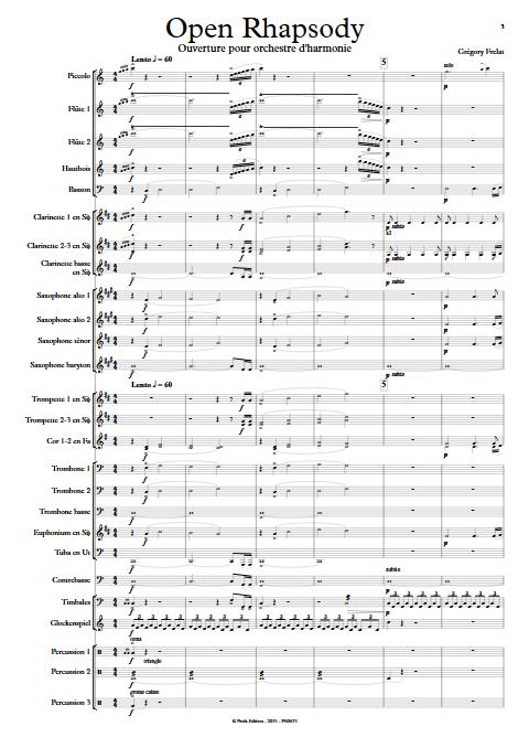 Open Rhapsody - Orchestre d'Harmonie - FRELAT G. - Partition