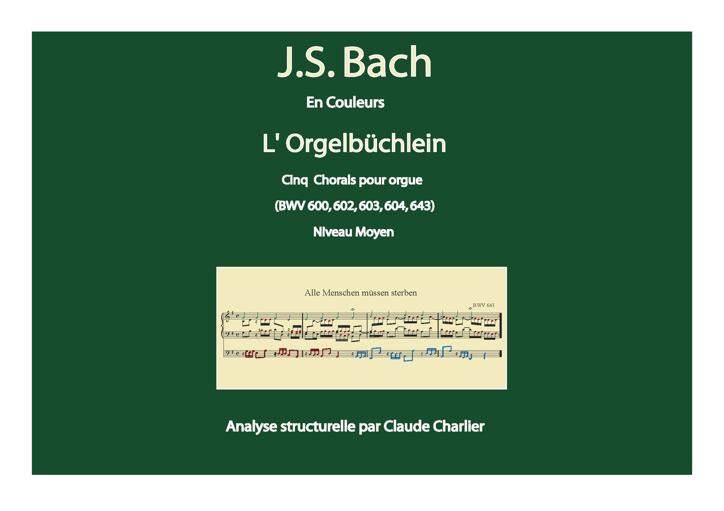 Orgelbüchlein - Analyse Musicale - CHARLIER C. - page de garde