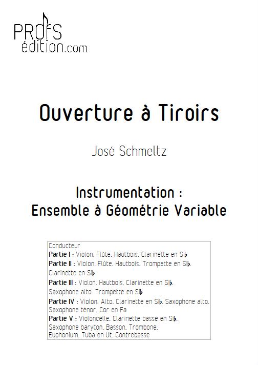 Ouverture à Tiroirs - Ensemble à Géométrie Variable - SCHMELTZ J. - page de garde