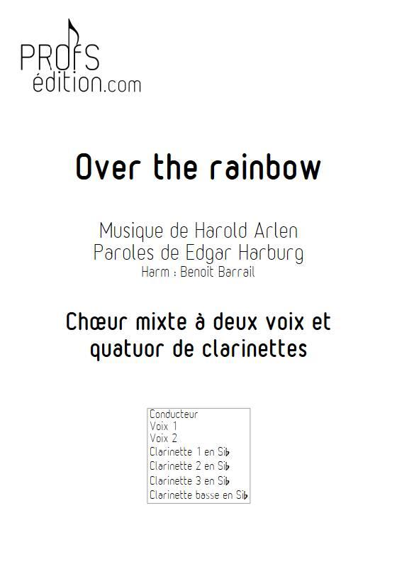 Over the rainbow - Quatuor de Clarinettes et Choeur - ARLEN H. - page de garde