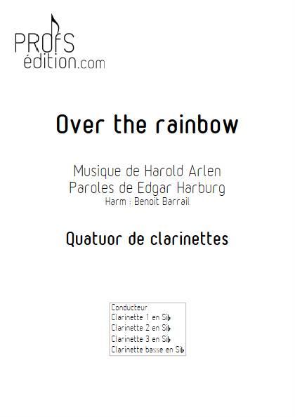 Over the rainbow - Quatuor de Clarinettes - ARLEN H. - page de garde