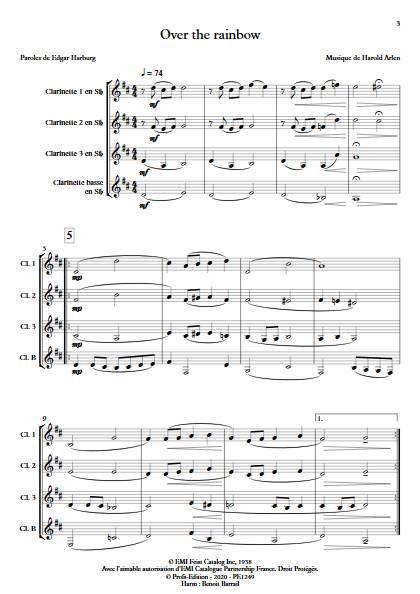 Over the rainbow - Quatuor de Clarinettes - ARLEN H. - app.scorescoreTitle