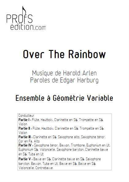 Over the rainbow - Ensemble Variable - ARLEN H. - page de garde
