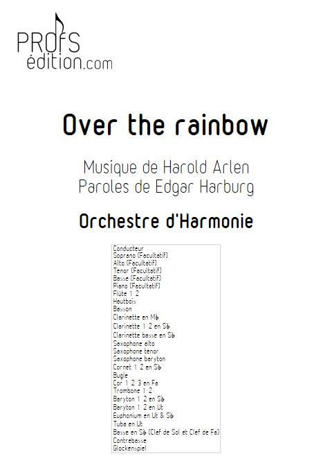 Over the rainbow - Orchestre d'Harmonie - ARLEN H. - page de garde