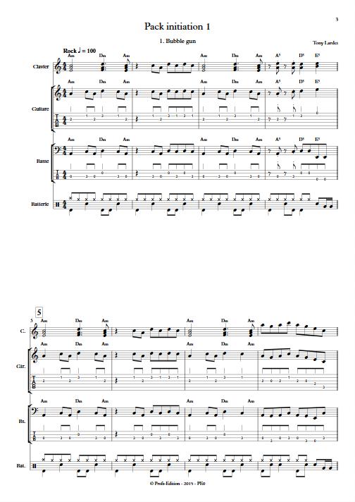 Pack Initiation 1 - Musique Actuelle - LARDET T. - app.scorescoreTitle