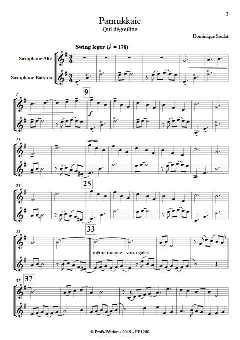 Pamukkale - Duo de Saxophones - SOULAT D. - Partition