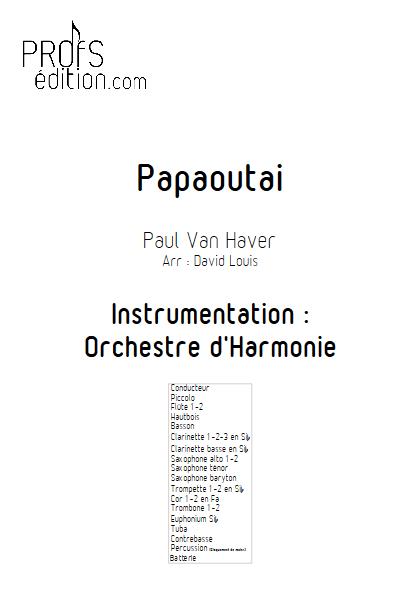 Papaoutai - Orchestre d'Harmonie - STROMAE - page de garde
