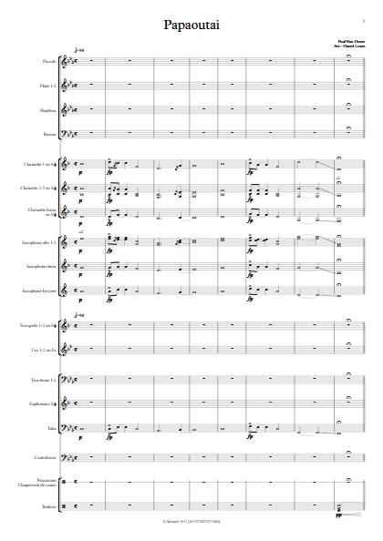 Papaoutai - Orchestre d'Harmonie - STROMAE - app.scorescoreTitle
