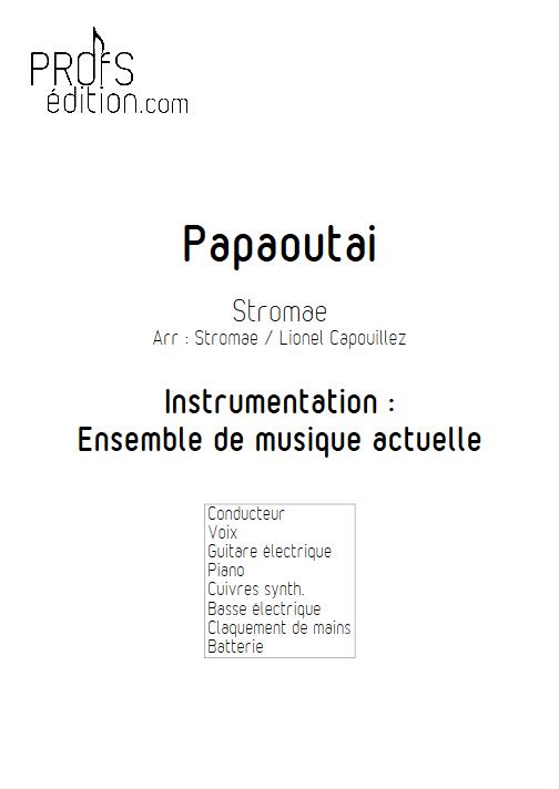 Papaoutai - Relevé Complet - STROMAE - page de garde