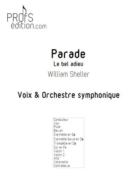 Parade - Orchestre Symphonique - SHELLER W. - page de garde