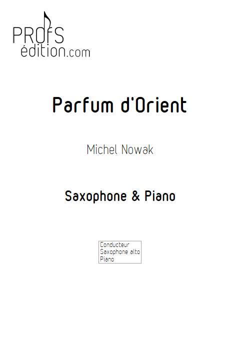 Parfum d'Orient - Saxophone Piano - ANONYME - page de garde