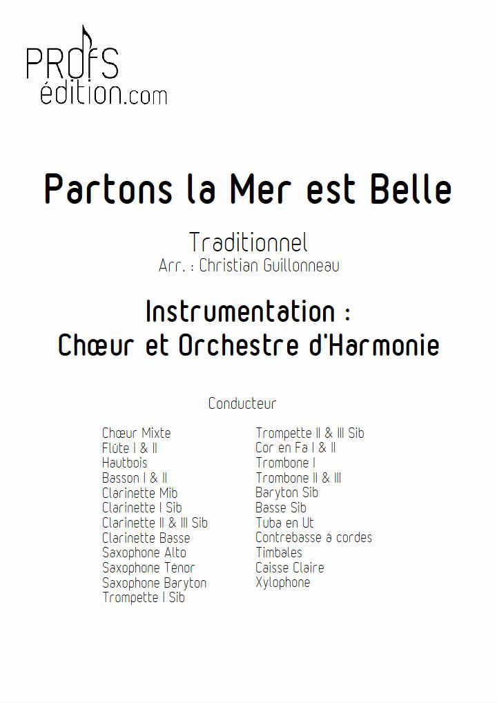 Partons la mer est belle - Chœur & Harmonie - TRADITIONNEL - page de garde