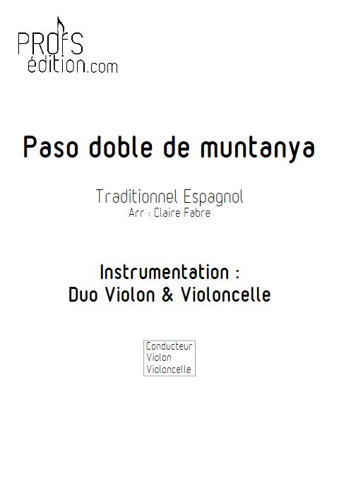 Paso doble de muntanya - Duo Violon et Violoncelle - TRADITIONNEL ESPAGNOL - page de garde