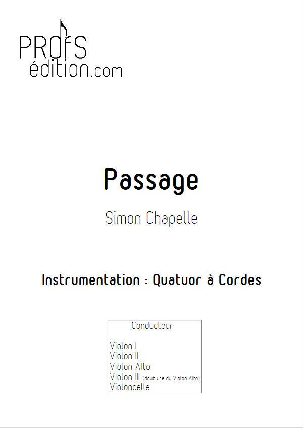 Passage - Quatuor à Cordes - CHAPELLE S. - page de garde