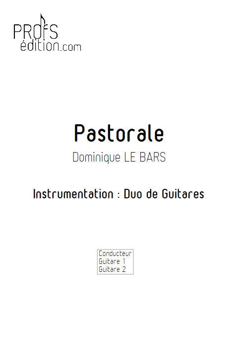 Pastorale - Duos Guitare - LE BARS D. - page de garde