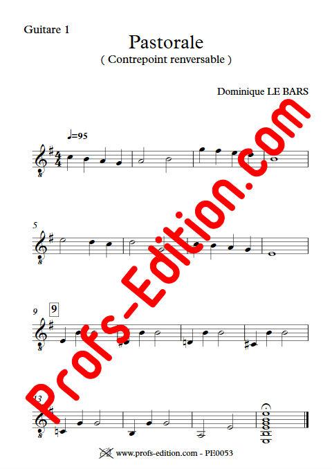 Pastorale - Duos Guitare - LE BARS D. - Partition