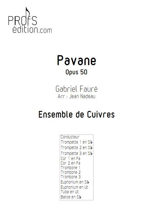 Pavane - Ensemble de Cuivres - FAURE G. - page de garde