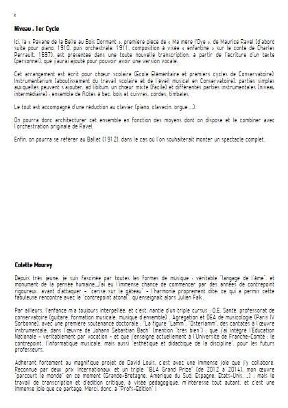 Pavane de la belle au bois dormant – Ensemble à Géométrie Variable - RAVEL M. - Fiche Pédagogique
