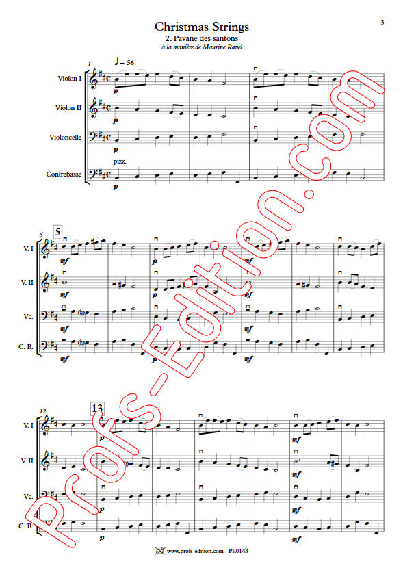 Pavane des Santons - Orchestre Cordes - GUILLONNEAU C. - Partition