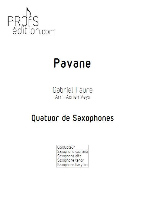 Pavane - Quatuor de Saxophones - FAURE G. - page de garde