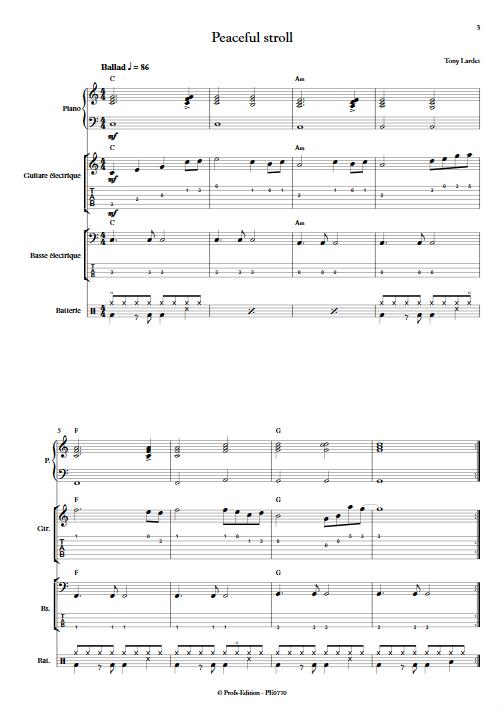 Peaceful stroll - Musique Actuelle - LARDET T. - app.scorescoreTitle