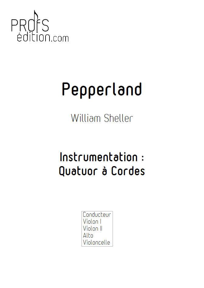 Pepperland - Quatuor à Cordes - SHELLER W. - page de garde