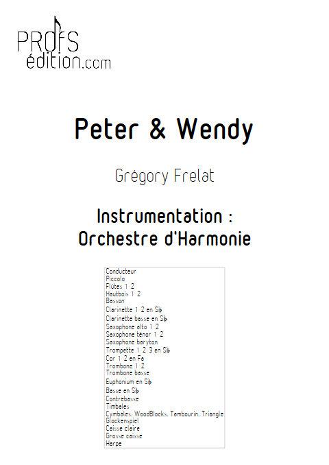 Peter et Wendy - Orchestre d'Harmonie - FRELAT G. - page de garde