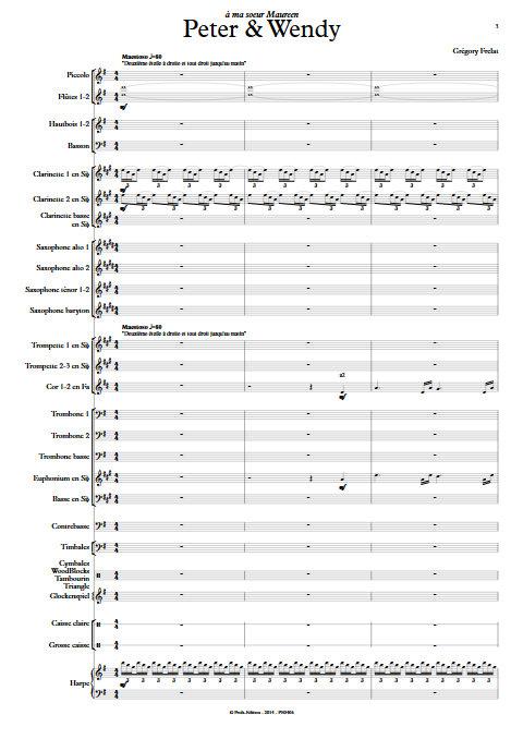 Peter et Wendy - Orchestre d'Harmonie - FRELAT G. - app.scorescoreTitle