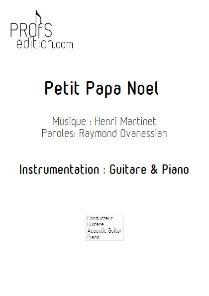 Petit Papa Noël - Guitare & Piano - MARTINET Henri BUREL Denis - page de garde