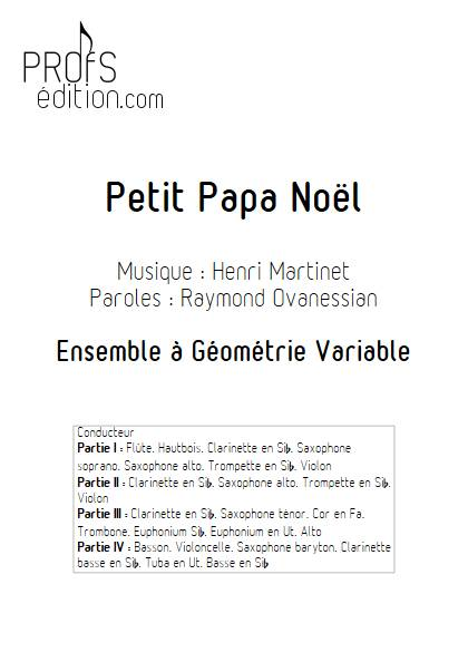 Petit Papa Noël - Ensemble Variable - MARTINET H. - page de garde