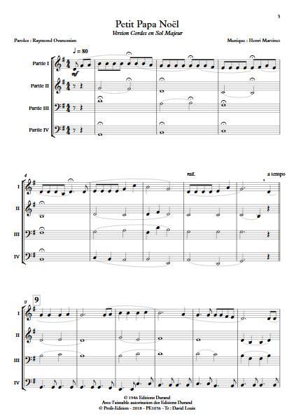 Petit Papa Noël - Ensemble Variable - MARTINET H. - Fiche Pédagogique