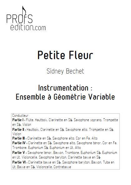 Petite Fleur - Ensemble à géométrie variable - BECHET S. - page de garde