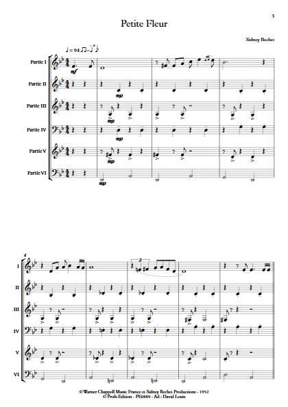 Petite Fleur - Ensemble à géométrie variable - BECHET S. - app.scorescoreTitle