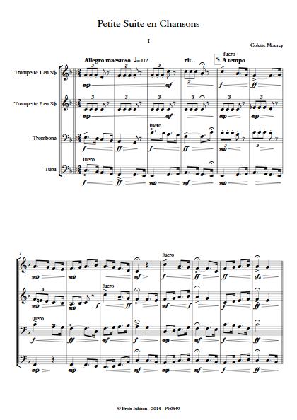 Petite Suite En Chansons - Quatuor de Cuivres - MOUREY C. - app.scorescoreTitle