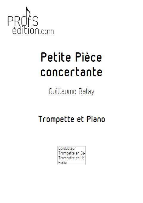 Petite pièce concertante - Trompette et Piano - BALAY G. - page de garde