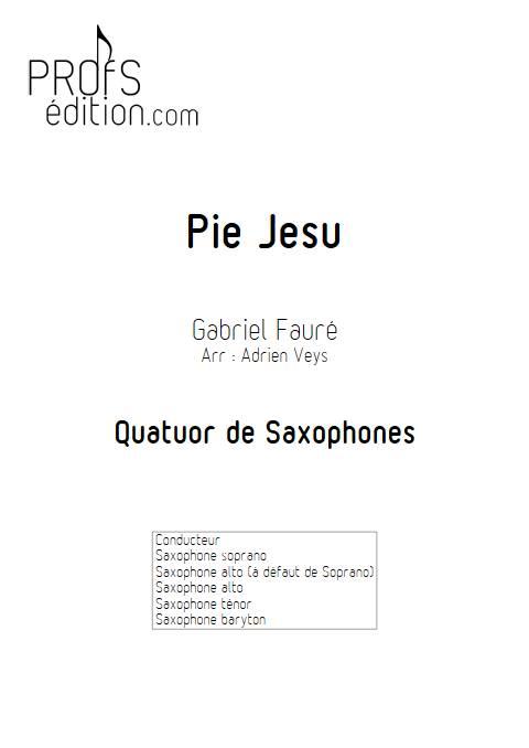 Pie Jesus - Quatuor de Saxophones - FAURE G. - page de garde