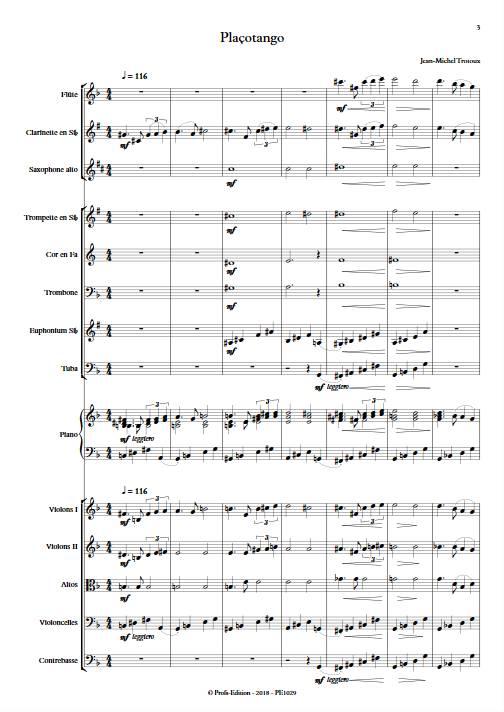 Plaçotango - Orchestre Symphonique - TROTOUX JM - app.scorescoreTitle