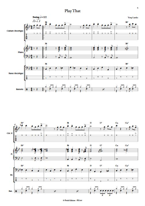 Play That - Musique Actuelle - LARDET T. - Partition