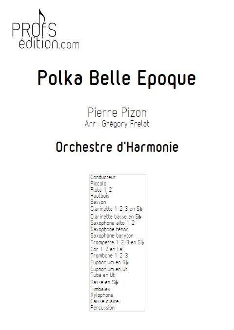 Polka Belle Epoque - Orchestre d'Harmonie - PIZON P. - page de garde