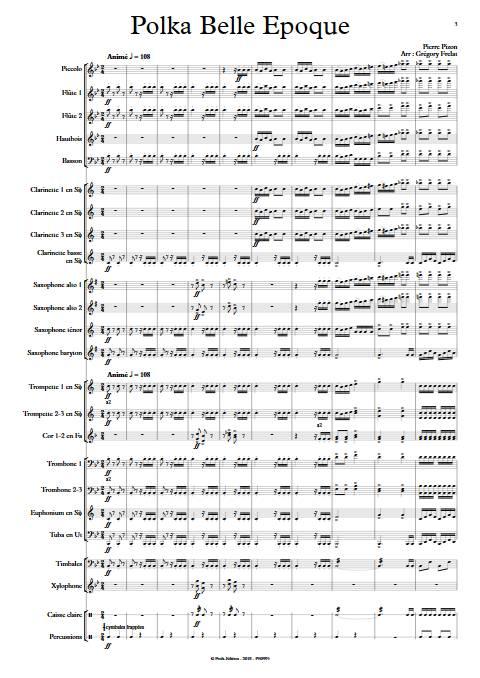 Polka Belle Epoque - Orchestre d'Harmonie - PIZON P. - Partition