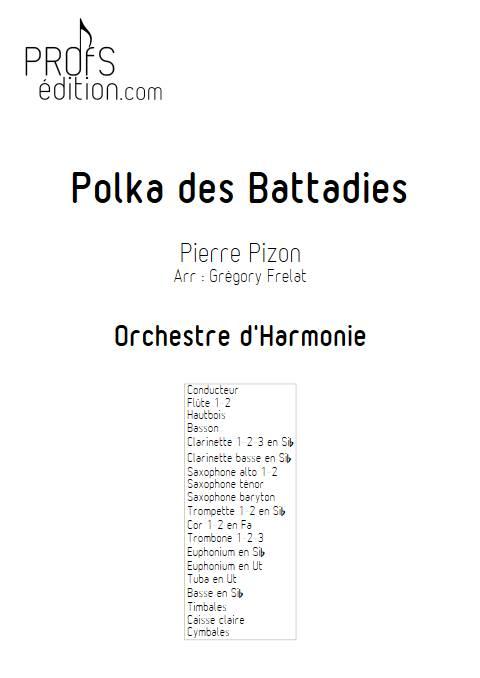 Polka des battadies - Orchestre d'Harmonie - PIZON P. - page de garde