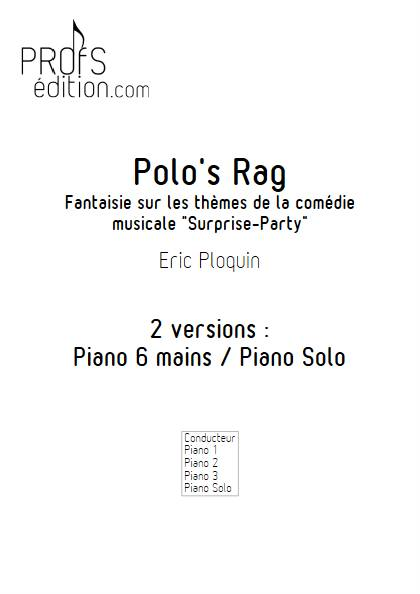 Polo's Rag - Piano 6 mains - PLOQUIN E. - page de garde